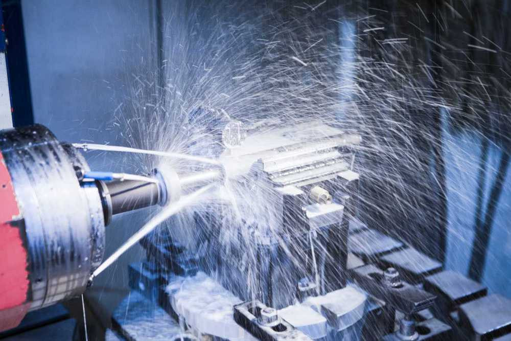 CNC-Bearbeitung von Maschinenteilen
